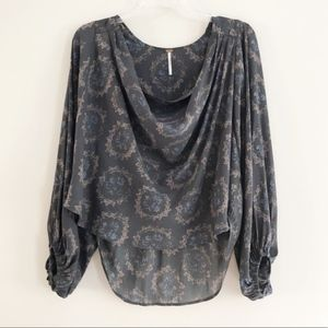 Free People   Cowl Neck Blouse   XS
